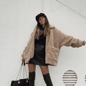 Fuzzy Brown Coat